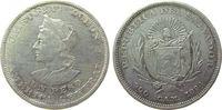 1 Peso 1894 El Salvador Ag Kolumbus, C.A.M...