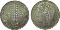 10 Drachmai 1930 Griechenland Ag Demeter, ...