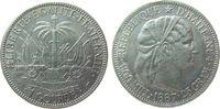 1 Gourde 1887 Haiti Ag Republik, kleiner R...