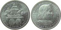 1/2 Dollar 1892 USA Ag Kolumbus vz
