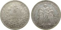5 Francs 1875 Frankreich Ag Herkulesgruppe...