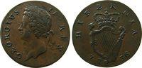 1/2 Penny 1736 Irland Ku Georg II ss+