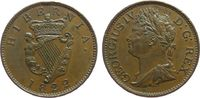 1/2 Penny 1822 Irland Ku Georg IV, kleiner...
