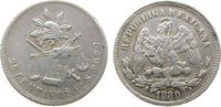 25 Centavos 1880 Mexiko Ag Go-S, Guanajuat...