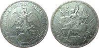 1 Peso 1911 Mexiko Ag Unabhängigkeit ss+