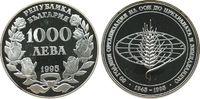 1000 Leva 1995 Bulgarien Ag 50 Jahre FAO, ...