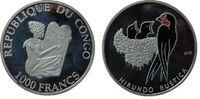 1000 Francs 2005 Kongo DR. Ag Rauchschwalb...