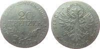Österreich 20 Kreuzer Ag Franz II. (I.), 1792-1810, Aufstand unter Andreas Hofer, Schlacht am Berg Ise