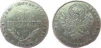 20 Kreuzer 1809 Österreich Ag Franz II. (I...