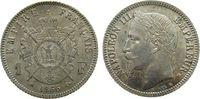 1 Franc 1866 Frankreich Ag Napoleon III, B...