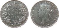 25 Cents 1883 Kanada Ag Victoria, H ss+