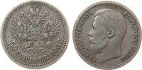 50 Kopeken 1900 Rußland Ag Nikolaus II ss-