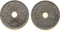 20 Centimes 1911 Belgisch Kongo KN . unz