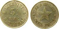 5 Cents  Dänisch West Indien KN Stern - LA...
