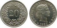 20 Rappen 1924 Schweiz KN HMZ 1208, Pracht...