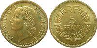 5 Francs 1946 Frankreich AlBr Lavrillier vz