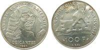 100 Francs 1991 Frankreich Ag Descartes unz