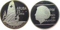 25 Florin 1992 Aruba Ag Olympische Spiele,...