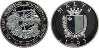 5 Liri / 10 Ecu 1993 Malta Ag 430. Jahrest...