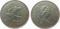50 Rupien 1975 Mauritius Ag Turmfalke unz