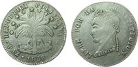 4 Soles 1858 Bolivien Ag Simon Bolivar, PA...
