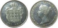 500 Reis 1847 Portugal Ag Maria II ss+