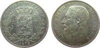 5 Francs 1873 Belgien Ag Leopold II (1865-...