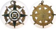 Medaille o.J. Schützen Silber teilemaillie...