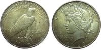 1 Dollar 1923 USA Ag Peace, Patina, kleine...