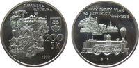 200 Korun 1998 Slowakei Ag 150. Jahre Eise...