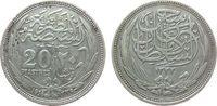 20 Piaster 1916 Ägypten Ag Hussein Kamil (...