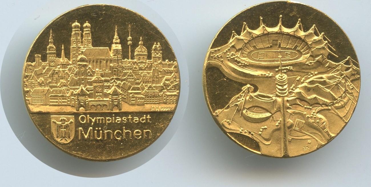 Goldmedaille Olympiastadt München Nd 1972 Deutschland M3213