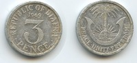3 Pence 1969 Biafra M#3578 - Republic of B...