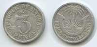 3 Pence 1969 Biafra M#3589 - Republic of B...