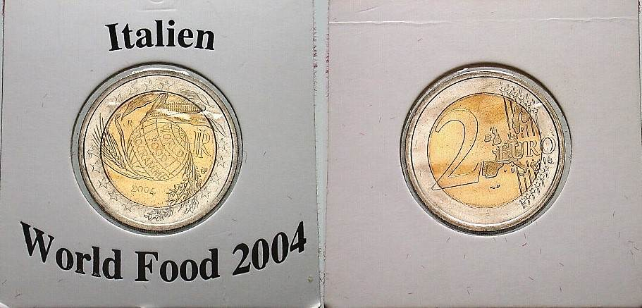 2 Euro 2004 Italien World Food Programme Unc Ma Shops