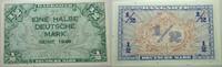 1/2 Deutsche Mark 1948 Banknoten nach Rose...