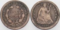 Half Dime 1840 O Vereinigte Staaten von Am...