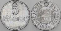 5 Pfennig o.J. Walldürn Stadt Gelocht, fas...