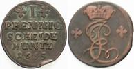 1 Pfennig 1695 Hildesheim Bistum Jobst Edm...