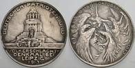 versilberte Bronzemedaille 1913 Sachsen-Le...