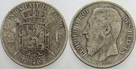 2 Franc 1867 Belgien-Königreich Leopold II...