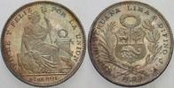 1/5 Sol 1899 Peru Republik Prachtexemplar,...