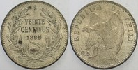 20 Centavos 1899 Chile Republik Patina, gu...