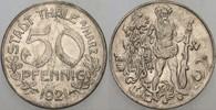 50 Pfennig 1921 Thale (Harz) Stadt Sehr sc...