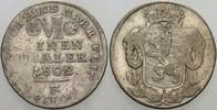 1/6 Taler 1802 F Hessen-Kassel Wilhelm IX....