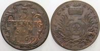 3 Pfennig 1760 Erfurt Mainz, Erzbistum Joh...