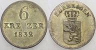 6 Kreuzer 1832 Hessen-Kassel Wilhelm II. 1...