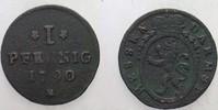 1 Pfennig 1790 Hessen-Darmstadt Ludwig IX....