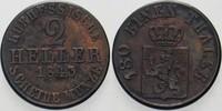 2 Heller 1843 Hessen-Kassel Wilhelm II. 18...