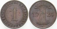 1 Reichspfennig 1924 E   Sehr schön